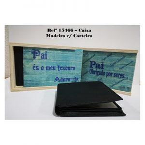Caixa de madeira c/carteira - PAI