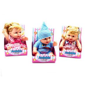 Boneca c/cabelo ou gorro - Amiable Baby